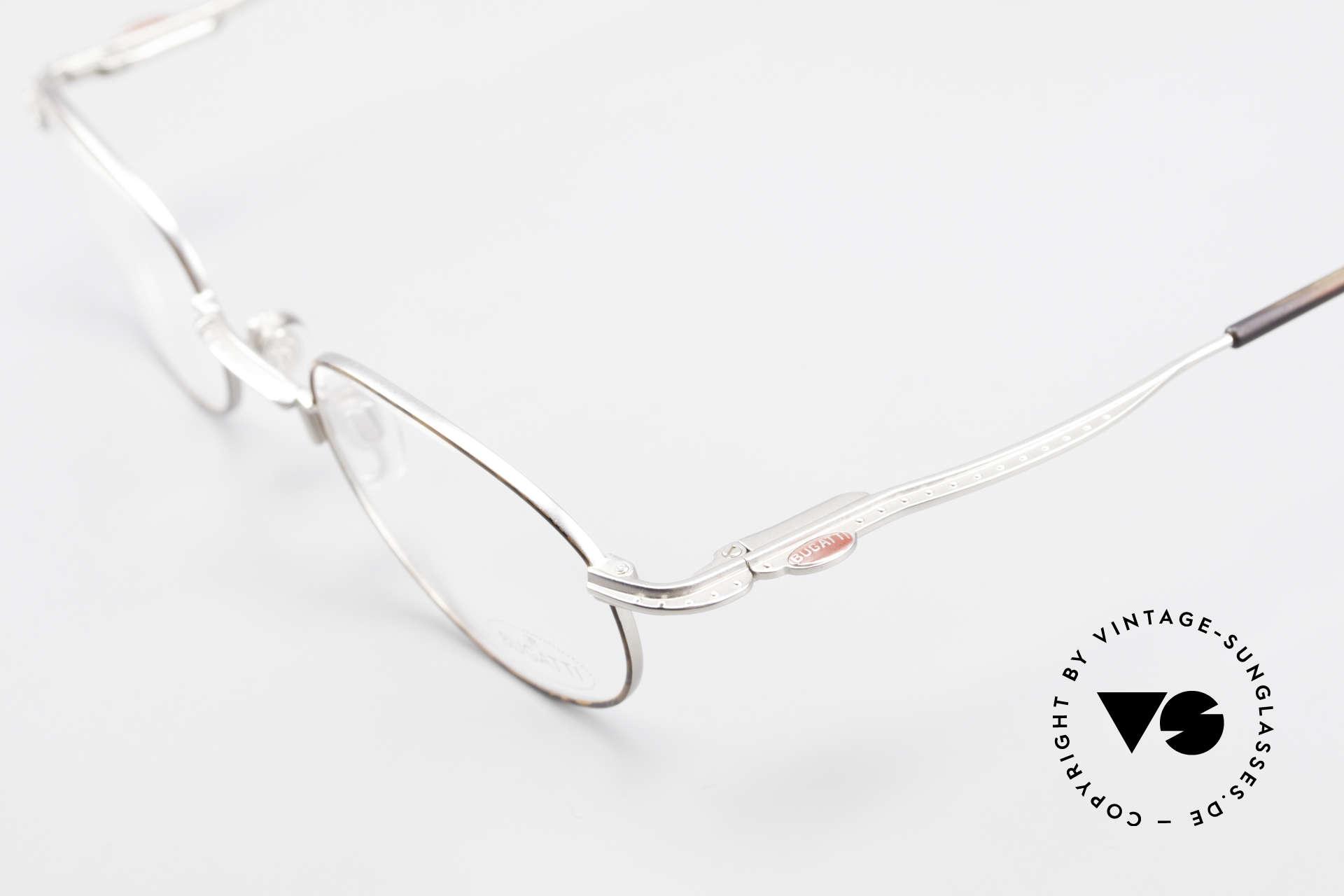 Bugatti 23547 90er Titanium Brillenfassung, mehr geht nicht! - Luxus pur! - Muss man(n) fühlen!, Passend für Herren und Damen