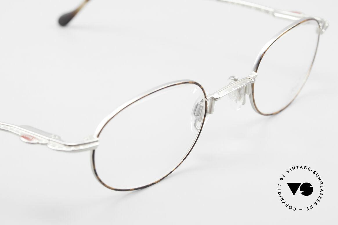 Bugatti 23547 90er Titanium Brillenfassung, ungetragen (wie alle unsere Bugatti Designerstücke), Passend für Herren und Damen