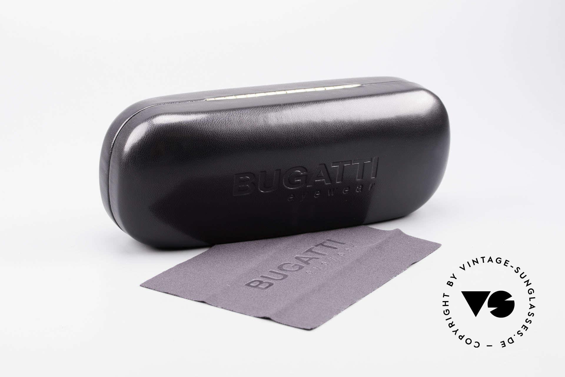 Bugatti 23547 90er Titanium Brillenfassung, KEINE RETROBRILLE; ein kostbares altes ORIGINAL, Passend für Herren und Damen