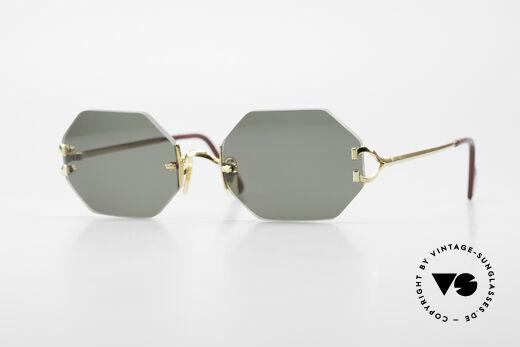 Cartier Rimless Octag - M Achteckige Luxus Sonnenbrille Details