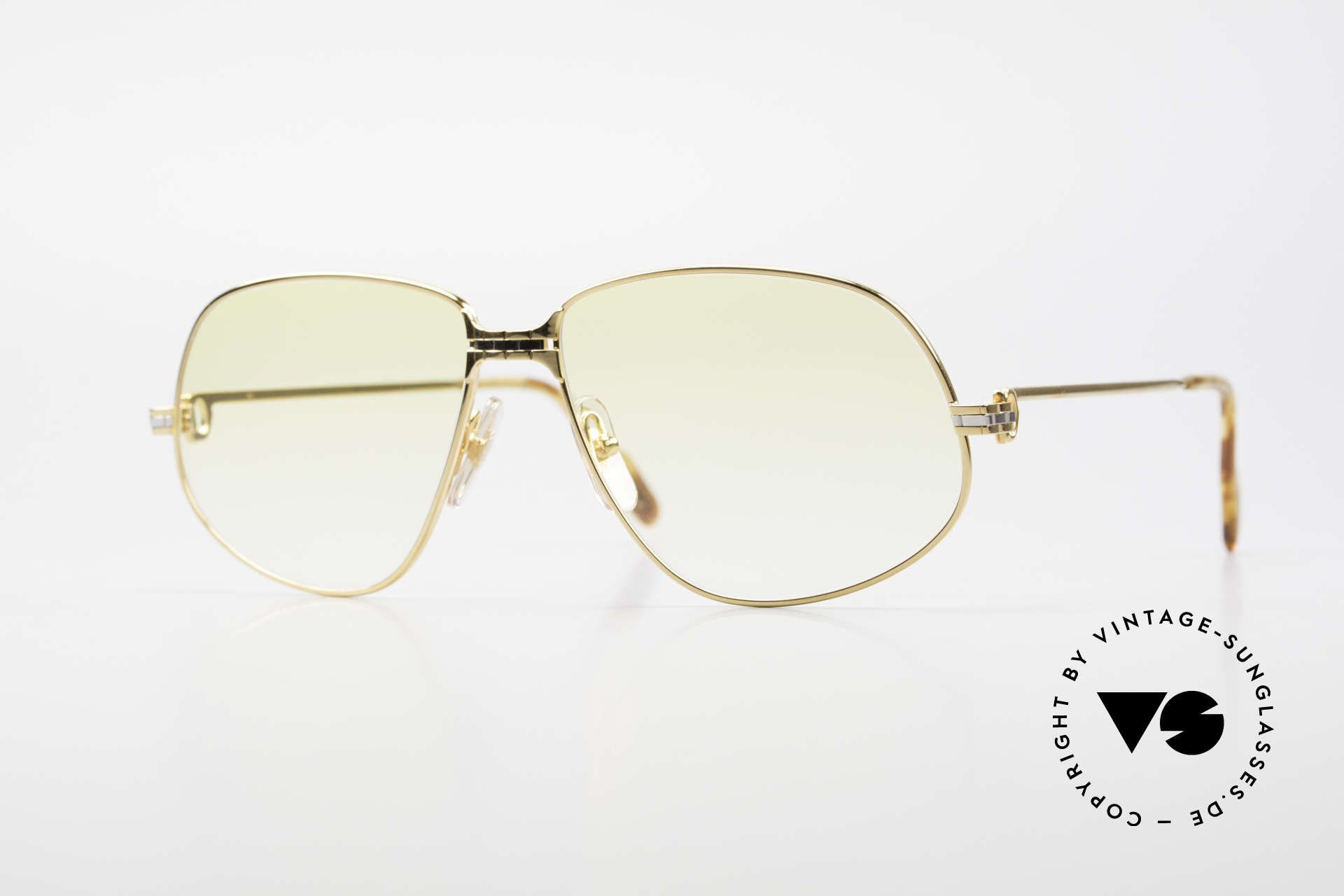 Cartier Panthere G.M. - XL Gelbe Gläser Mit Bvlgari Etui, Cartier Panthère = der berühmte Panther von CARTIER, Passend für Herren und Damen