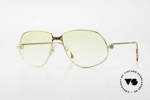 Cartier Panthere G.M. - XL Gelbe Gläser Mit Bvlgari Etui Details