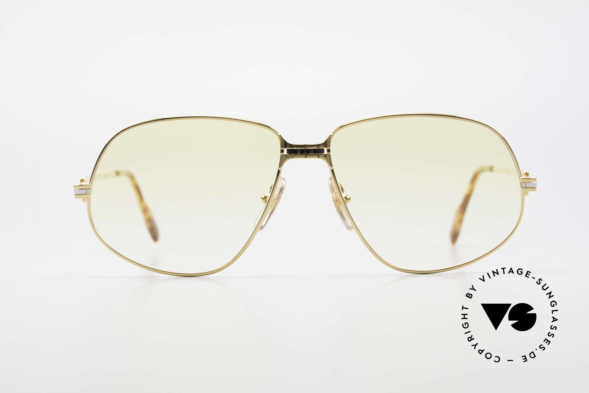 """Cartier Panthere G.M. - XL Gelbe Gläser Mit Bvlgari Etui, G.M. = """"Grande Modèle"""" (für Monsieur / den Gentleman), Passend für Herren und Damen"""
