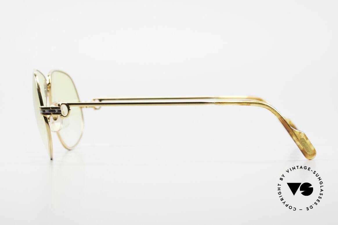 Cartier Panthere G.M. - XL Gelbe Gläser Mit Bvlgari Etui, teure Luxus-Sonnenbrille in X-LARGE Größe 63-16, 140, Passend für Herren und Damen