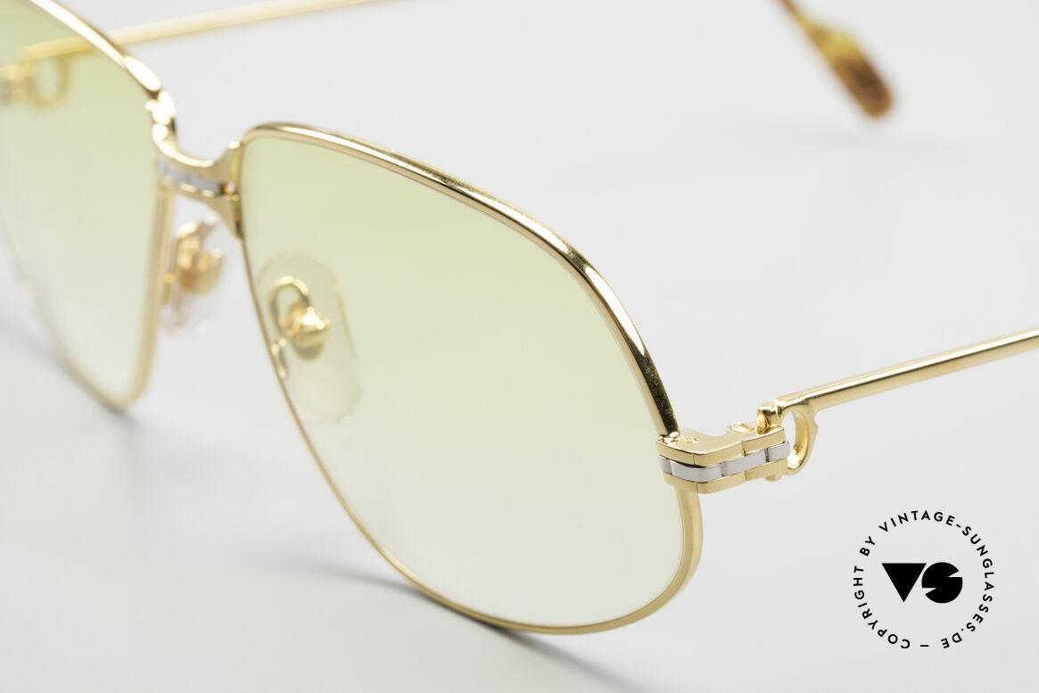 Cartier Panthere G.M. - XL Gelbe Gläser Mit Bvlgari Etui, 22kt vergoldet; Gläser gelb-Verlauf; auch abends tragbar, Passend für Herren und Damen