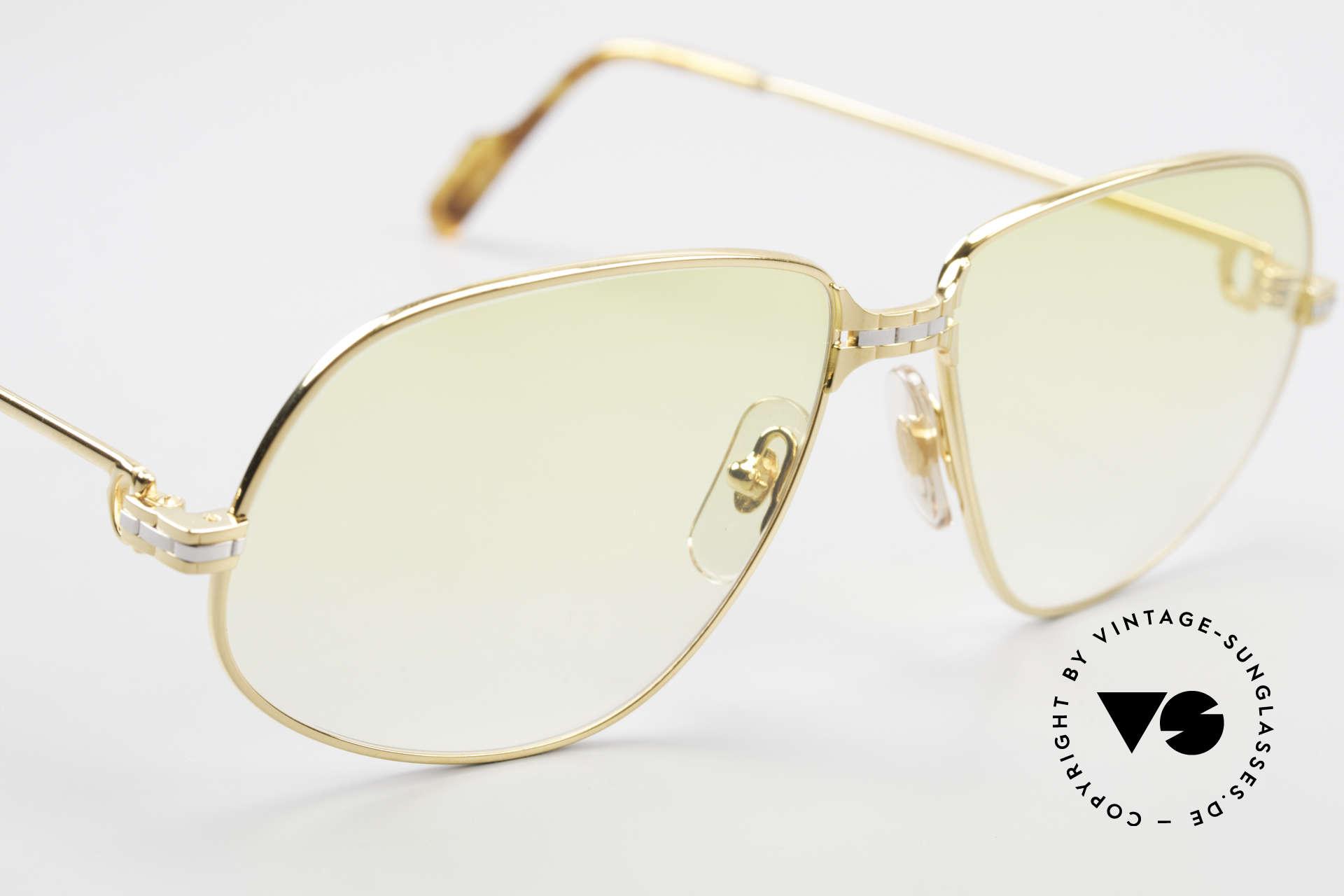 Cartier Panthere G.M. - XL Gelbe Gläser Mit Bvlgari Etui, ungetragen OHNE OVP; mit BVLGARI Etui, daher 599,-€, Passend für Herren und Damen