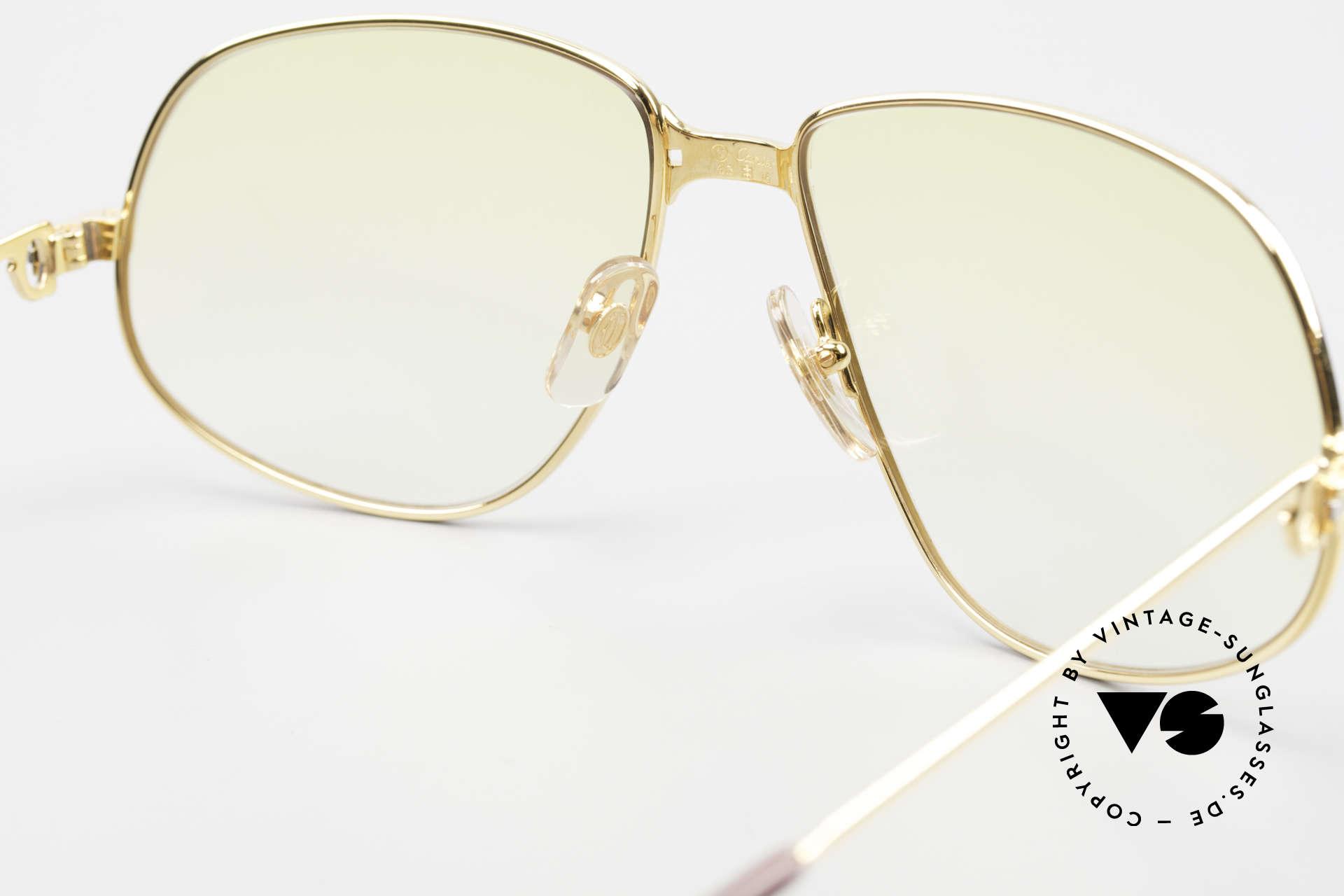 Cartier Panthere G.M. - XL Gelbe Gläser Mit Bvlgari Etui, KEINE RETRObrille; ein 30 Jahre altes vintage ORIGINAL, Passend für Herren und Damen