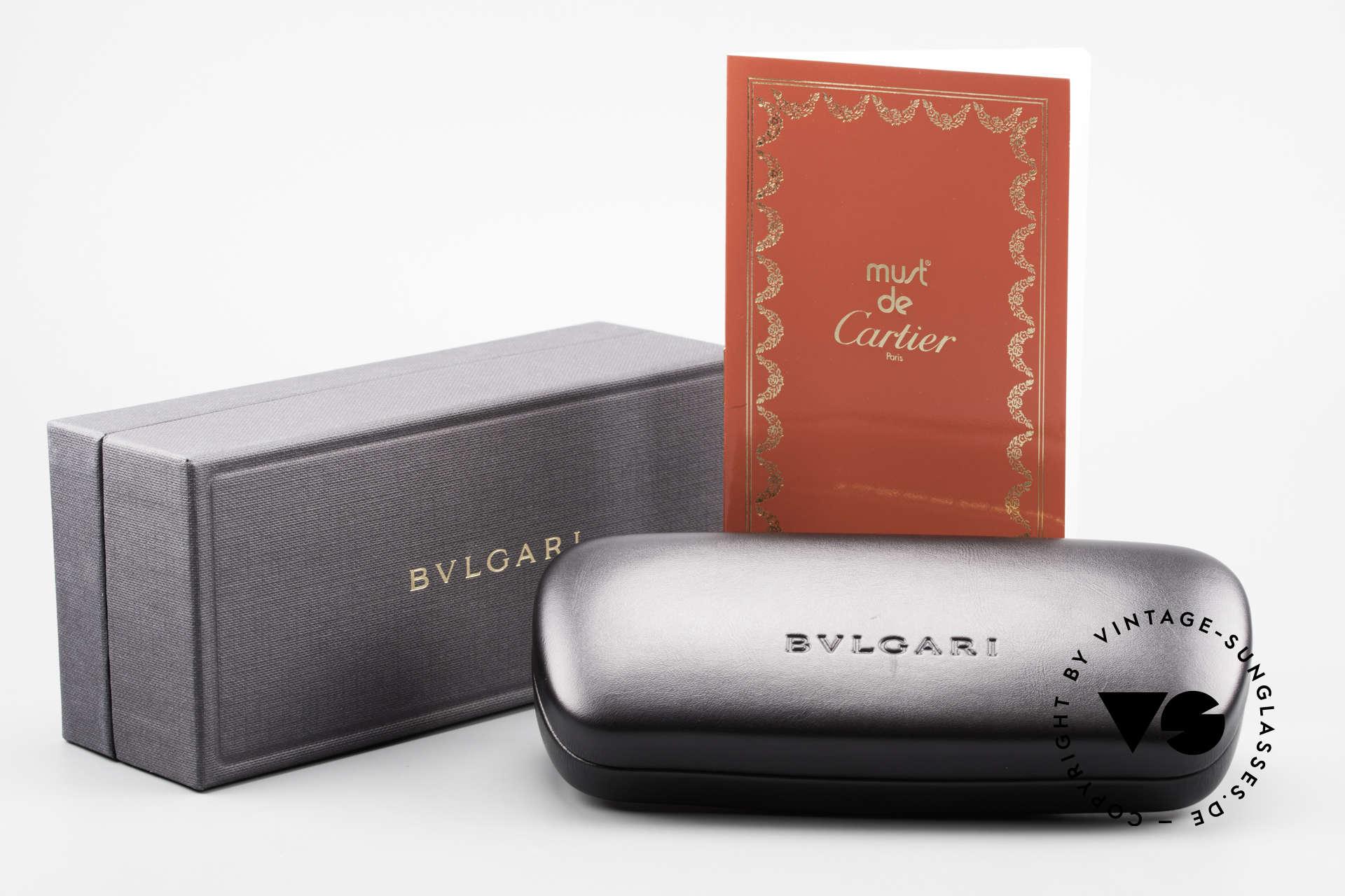 Cartier Panthere G.M. - XL Gelbe Gläser Mit Bvlgari Etui, Größe: large, Passend für Herren und Damen