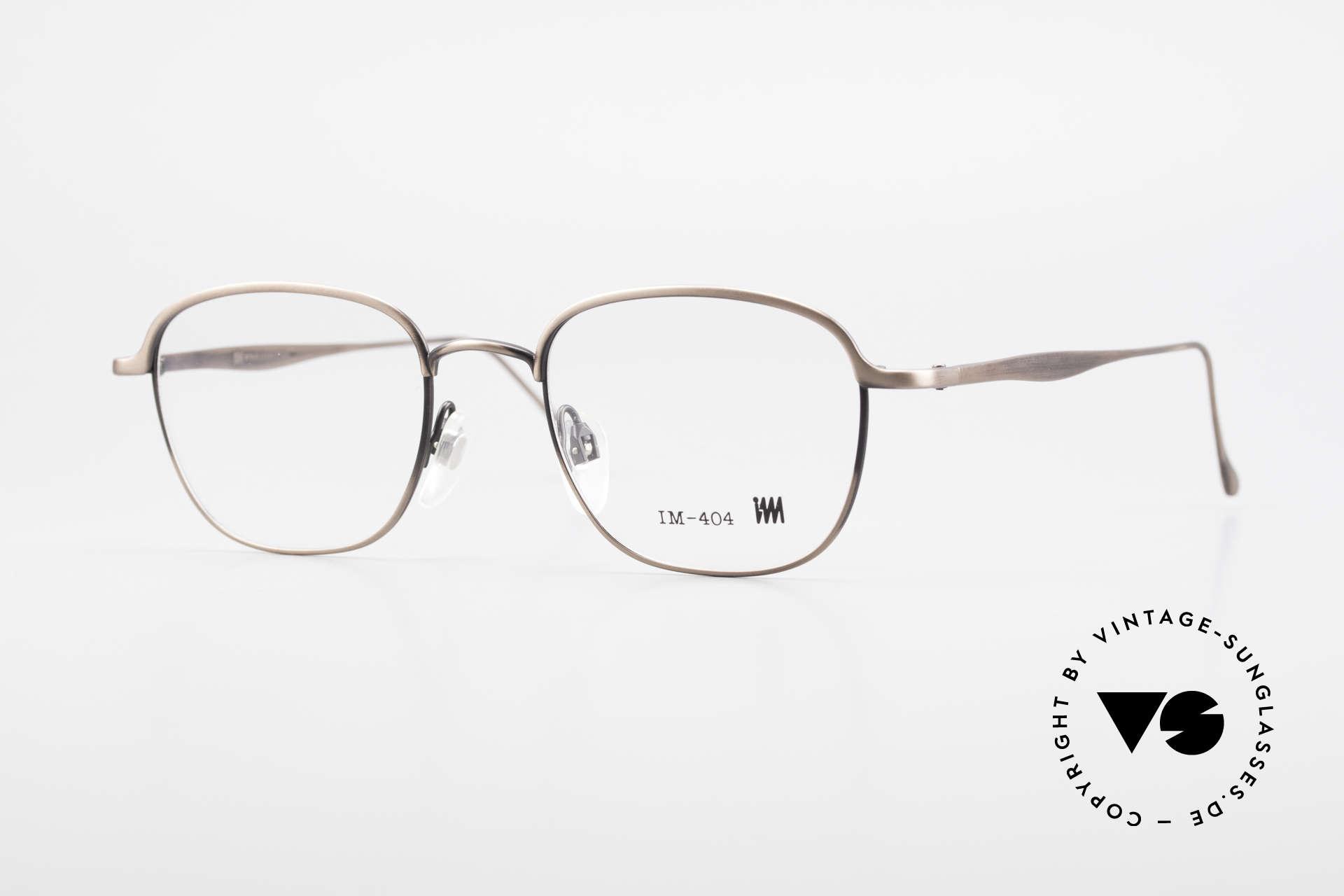 Miyake Design Studio IM404 Insider Brille All Titan 90er, interessante vintage ALL TITAN-Brille von 1993, Passend für Herren und Damen
