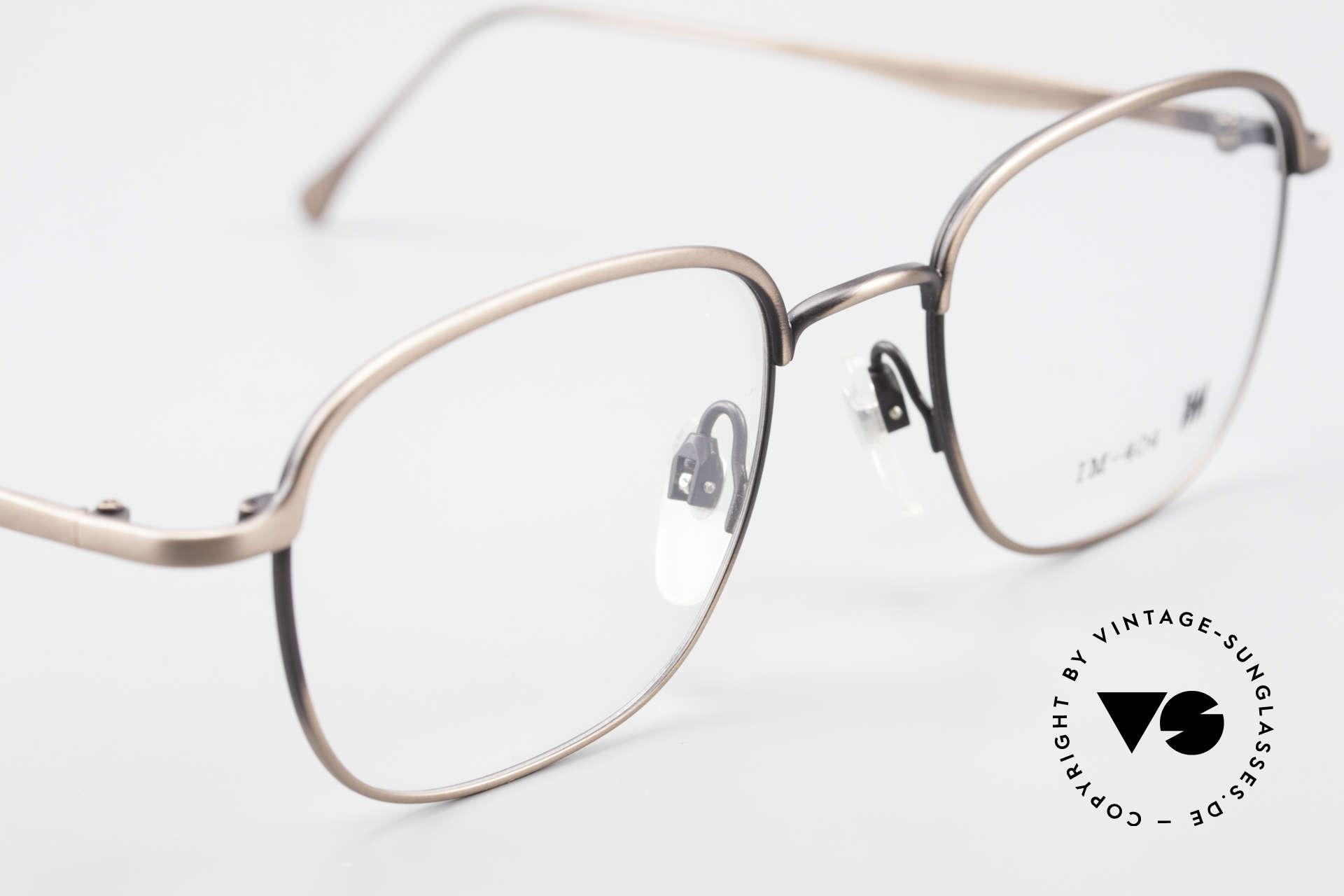 Miyake Design Studio IM404 Insider Brille All Titan 90er, ungetragenes 90er Einzelstück, KEINE Retrobrille, Passend für Herren und Damen