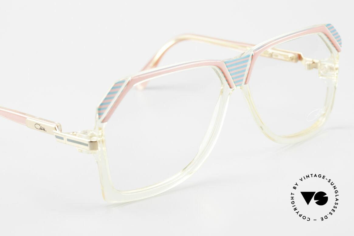 Cazal 186 80er Cazal Pink Türkis Kristall, ungetragen (wie alle unsere VINTAGE CAZAL Brillen), Passend für Damen