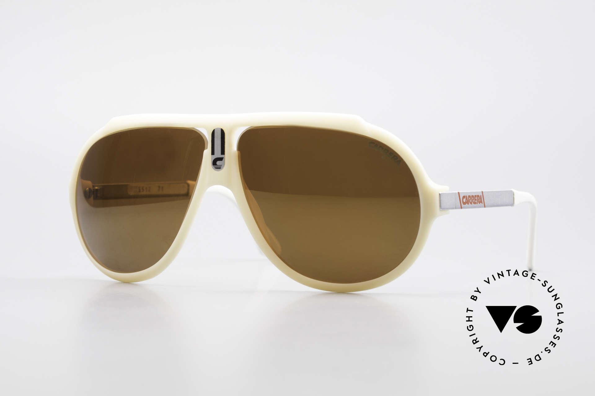 Carrera 5512 Miami Vice Brille Don Johnson, berühmte 80er Carrera Filmsonnenbrille; ein Klassiker, Passend für Herren