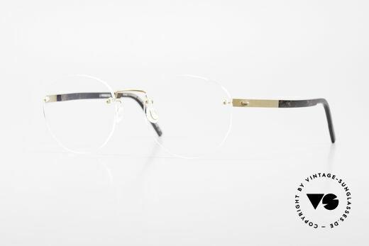 Lindberg 2110 Spirit Titan Runde Randlose Titanium Brille Details