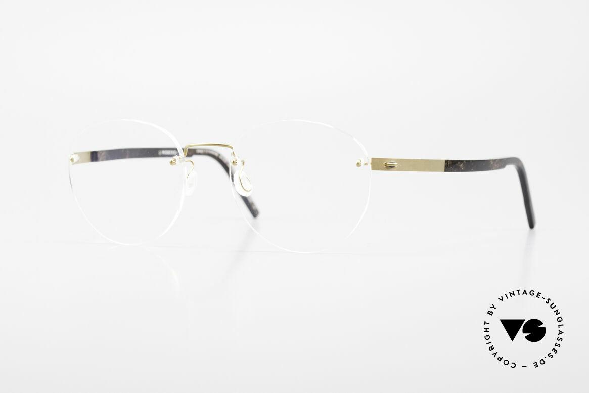 Lindberg 2110 Spirit Titan Runde Randlose Titanium Brille, LINDBERG Spirit Titanium Fassung, Mod. 2110, 46, 135, Passend für Herren und Damen