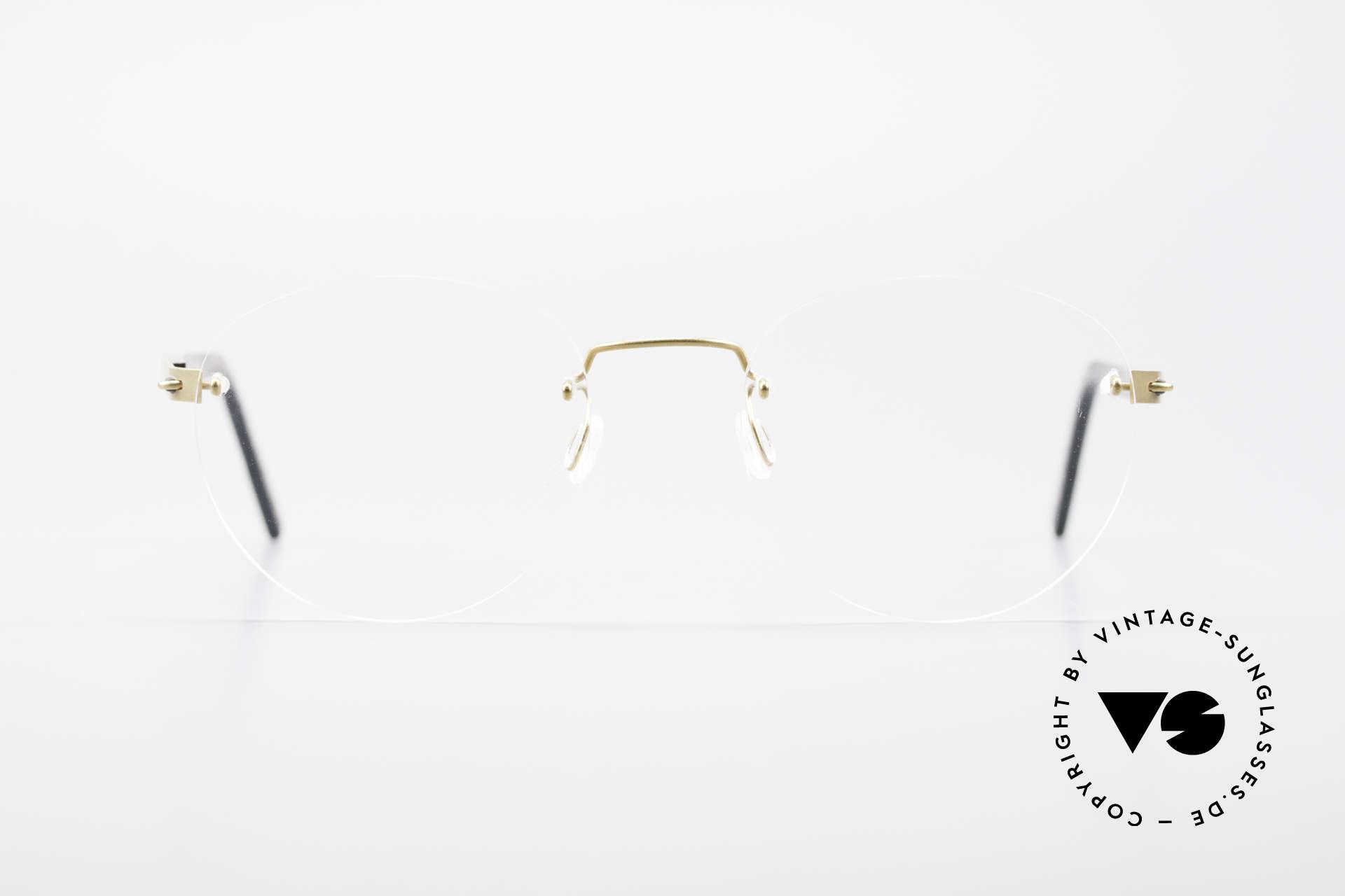 Lindberg 2110 Spirit Titan Runde Randlose Titanium Brille, vielfach ausgezeichnet hinsichtlich Qualität und Design, Passend für Herren und Damen