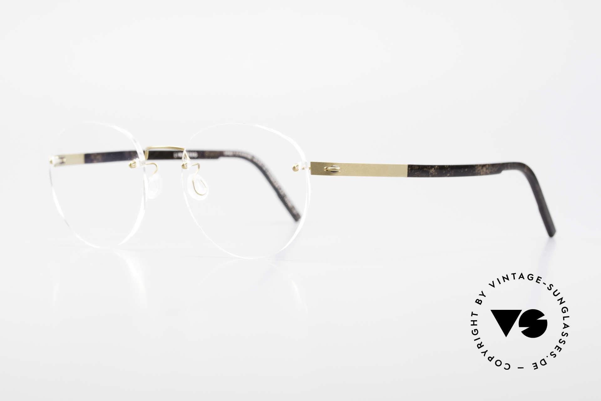 """Lindberg 2110 Spirit Titan Runde Randlose Titanium Brille, so zeitlos, stilvoll und innovativ = Prädikat """"VINTAGE"""", Passend für Herren und Damen"""
