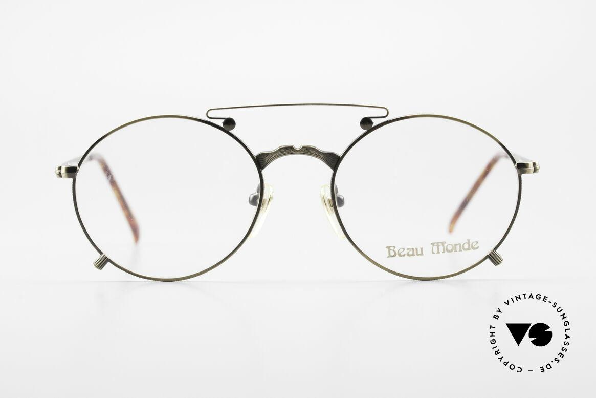 Beau Monde Knightsbridge Alte Vintage Brille 90er Insider, französische Name sagt alles 'Beau Monde' = schöne Welt, Passend für Herren und Damen