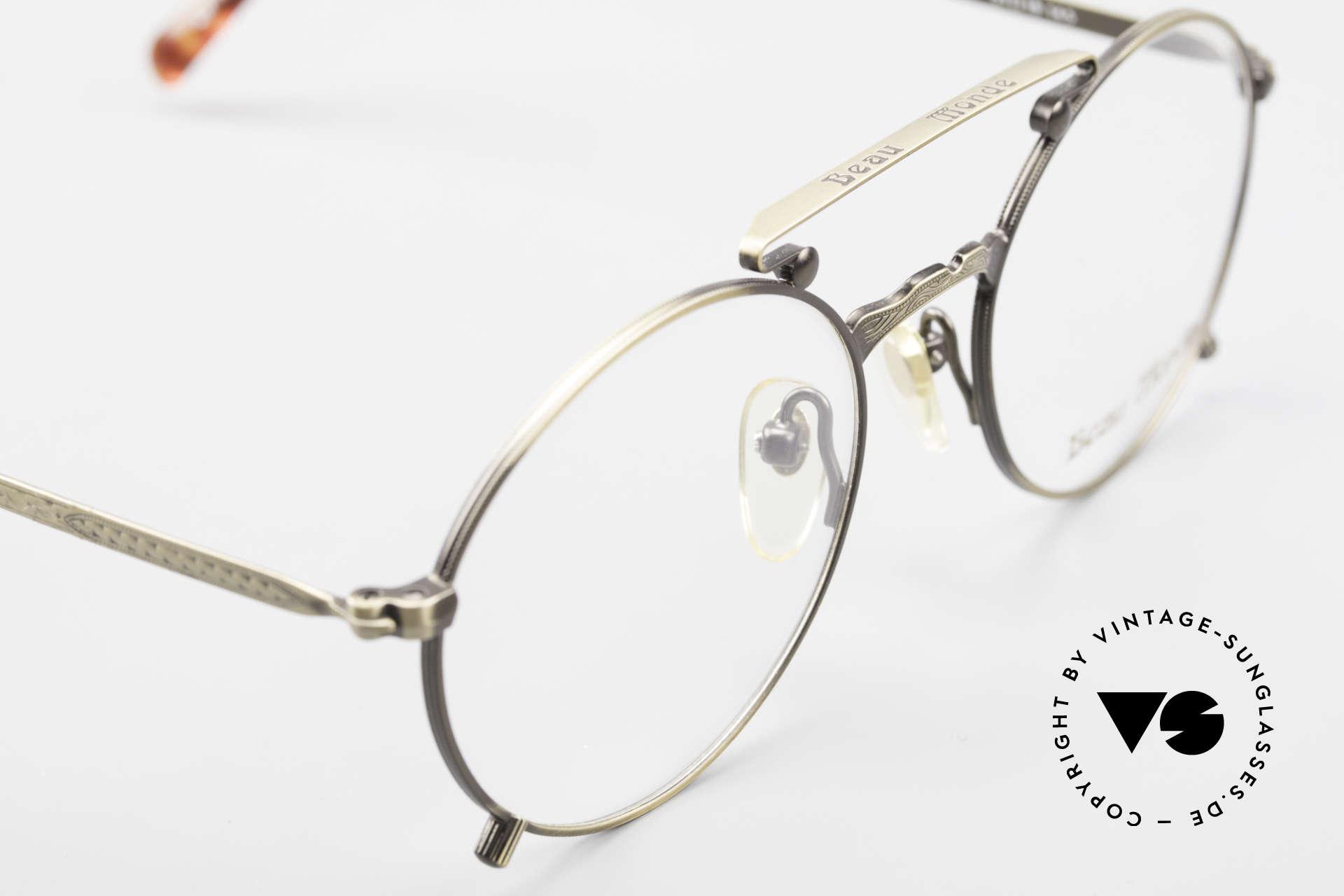Beau Monde Knightsbridge Alte Vintage Brille 90er Insider, ungetragenes Einzelstück für Leute, die sowas schätzen, Passend für Herren und Damen