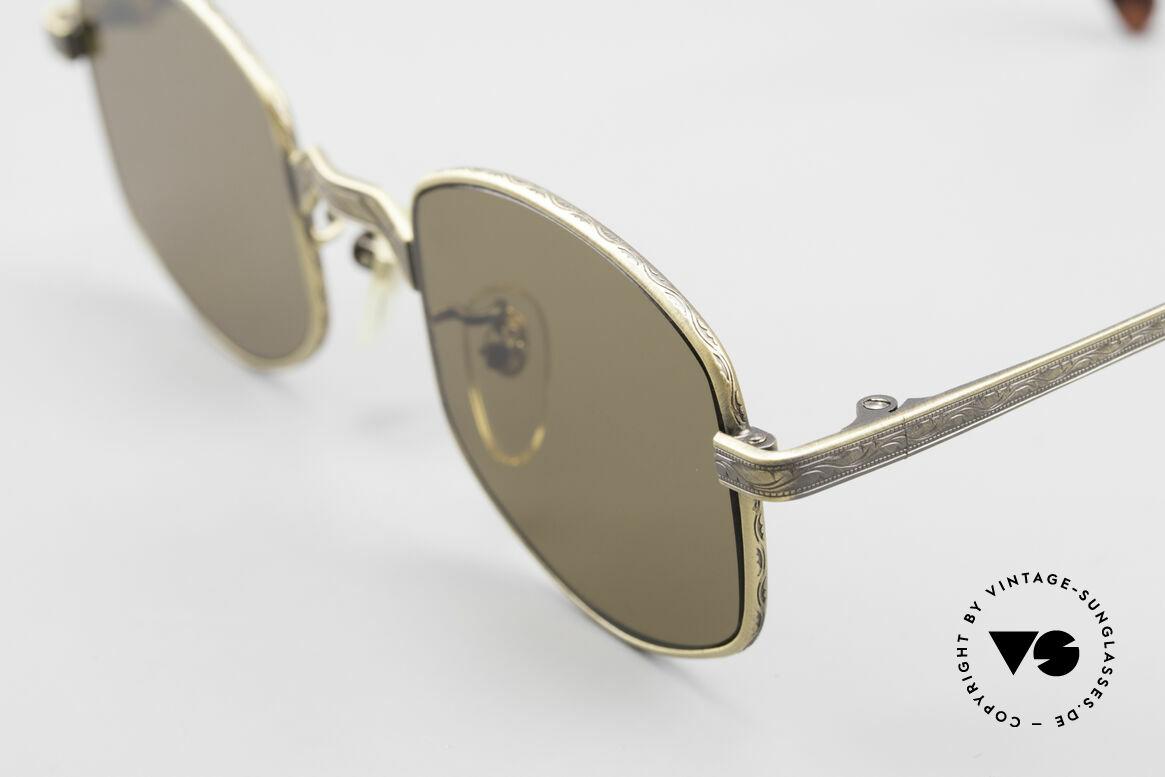 Beau Monde Dover Alte 90er Insider Sonnenbrille, Rahmen mit viel Liebe zum Detail; aufwändige Gravuren, Passend für Herren und Damen