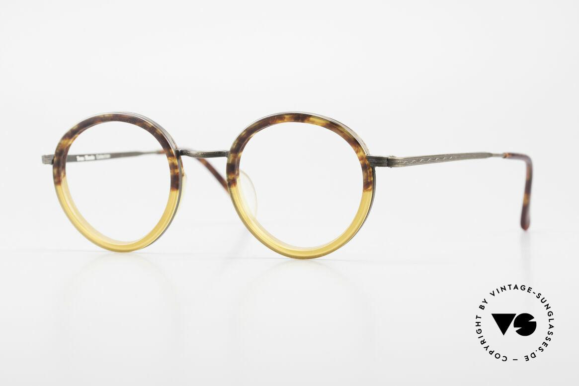 Beau Monde Rhodes Runde Alte Vintage Brille 90er, interessante alte vintage Brille; späte 80er / frühe 90er, Passend für Herren und Damen
