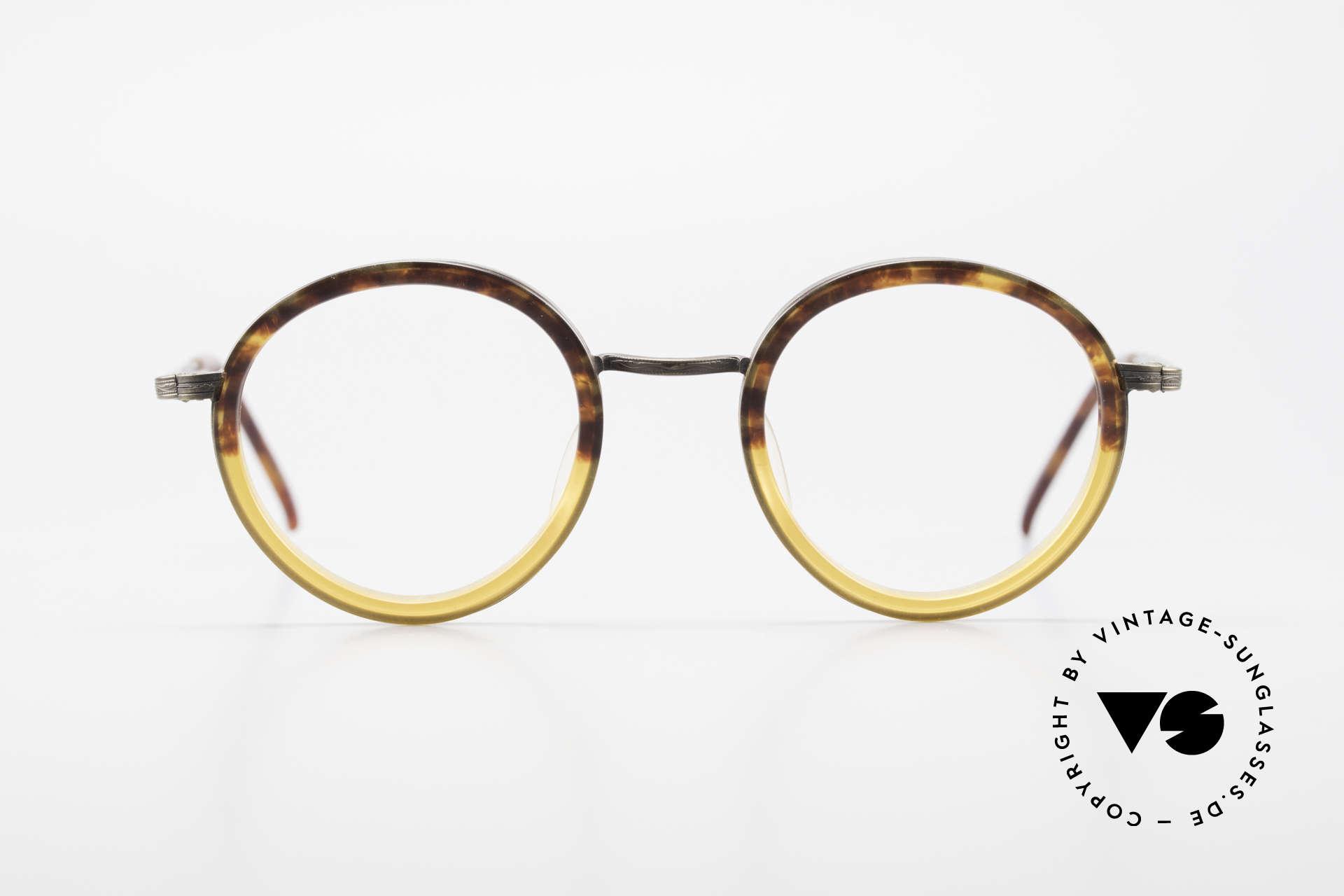 Beau Monde Rhodes Runde Alte Vintage Brille 90er, französische Name sagt alles 'Beau Monde' = schöne Welt, Passend für Herren und Damen