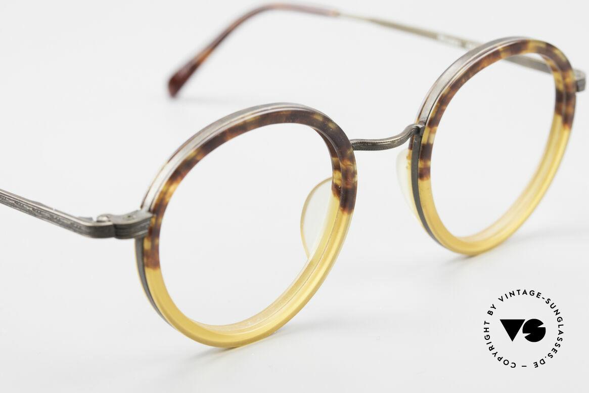 Beau Monde Rhodes Runde Alte Vintage Brille 90er, Rahmen mit viel Liebe zum Detail; aufwändige Gravuren, Passend für Herren und Damen
