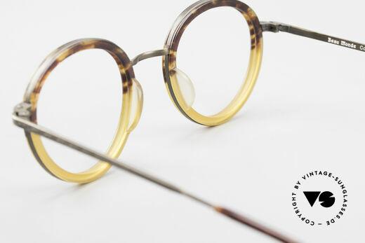 Beau Monde Rhodes Runde Alte Vintage Brille 90er, ungetragenes Einzelstück für Leute, die sowas schätzen, Passend für Herren und Damen