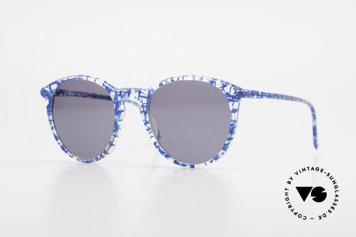 Alain Mikli 901 / 323 80er Panto Brille Kristall Blau Details
