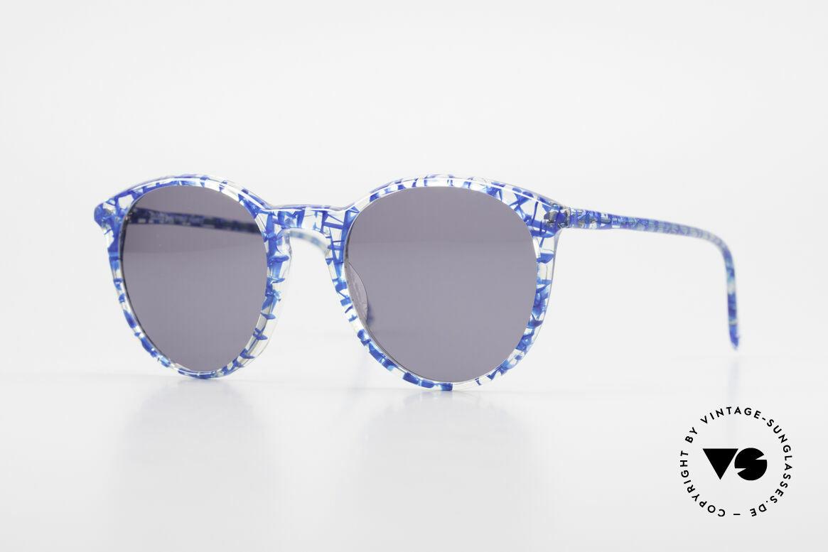 Alain Mikli 901 / 323 80er Panto Brille Kristall Blau, elegante ALAIN MIKLI Paris Designer-Sonnenbrille, Passend für Herren und Damen