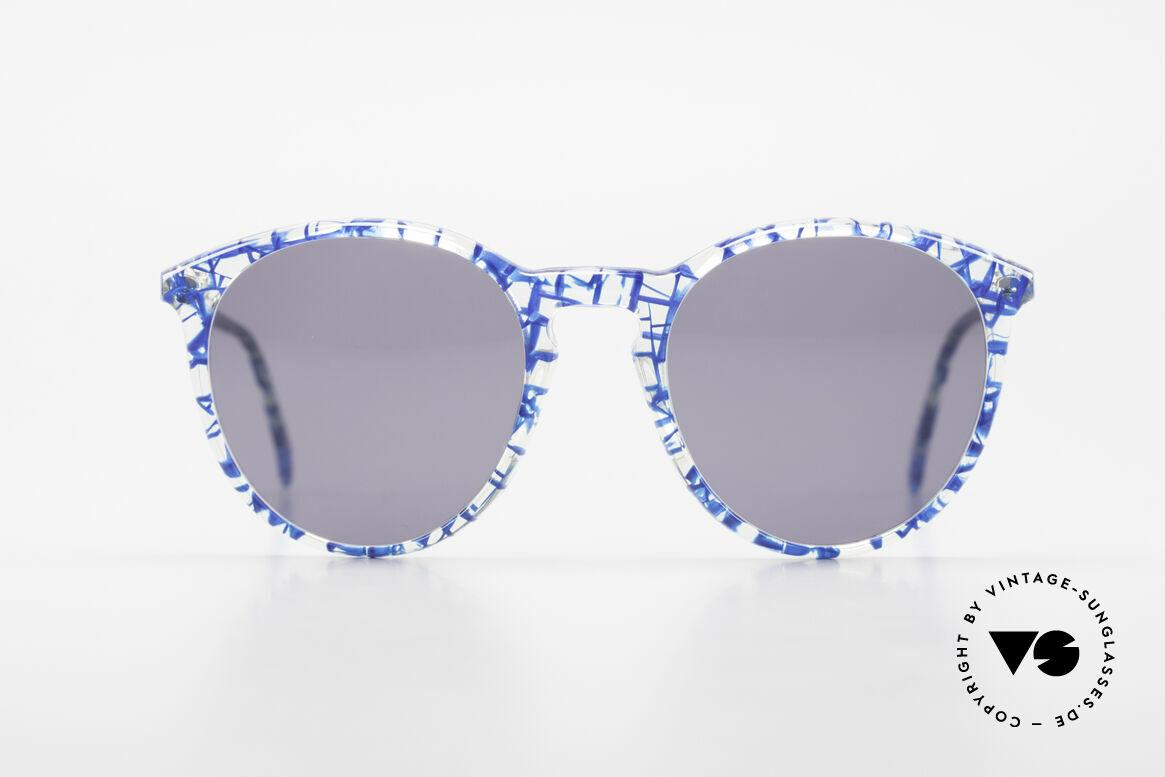 Alain Mikli 901 / 323 80er Panto Brille Kristall Blau, mehr 'klassisch' geht nicht (bekannte Panto-Form), Passend für Herren und Damen