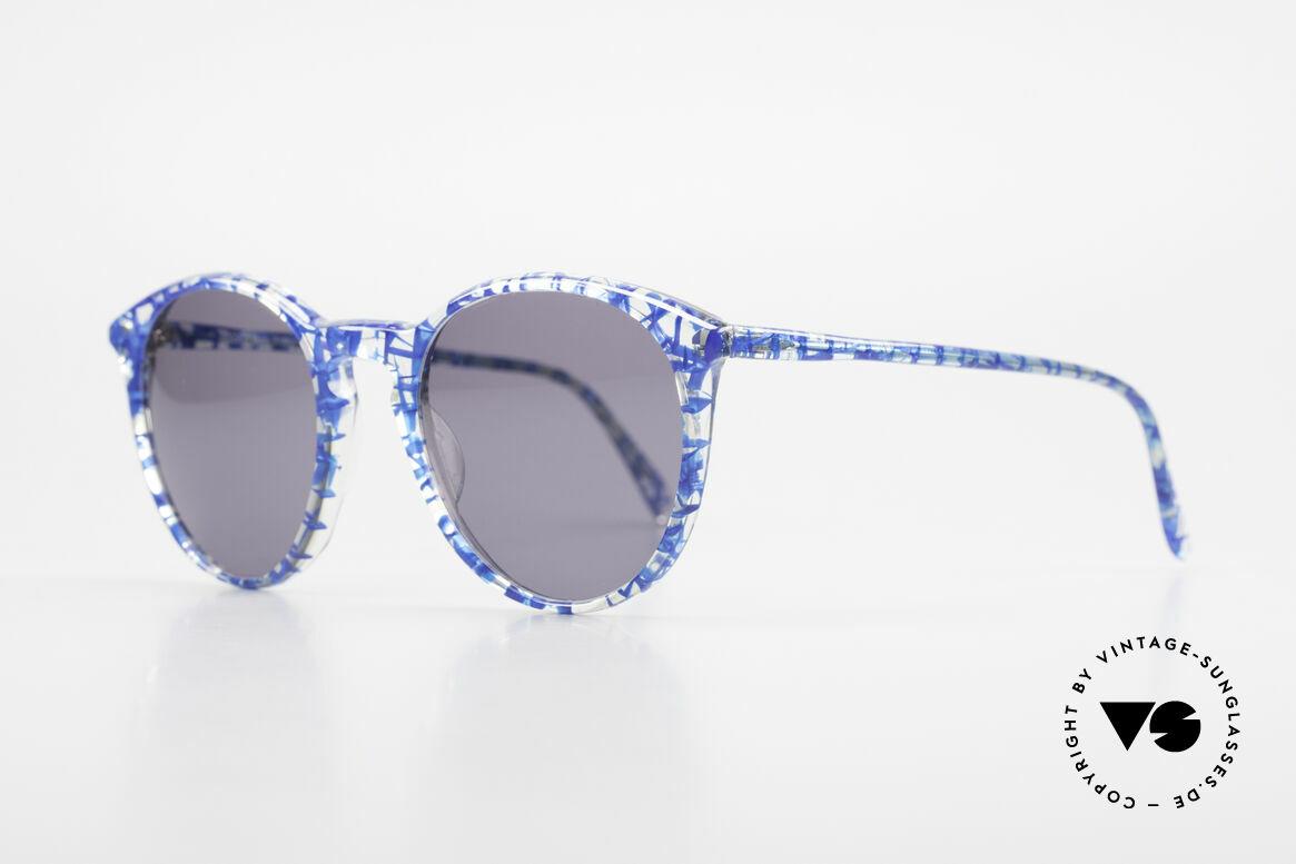 Alain Mikli 901 / 323 80er Panto Brille Kristall Blau, spektakuläres Muster in kristall / blau -netzförmig, Passend für Herren und Damen