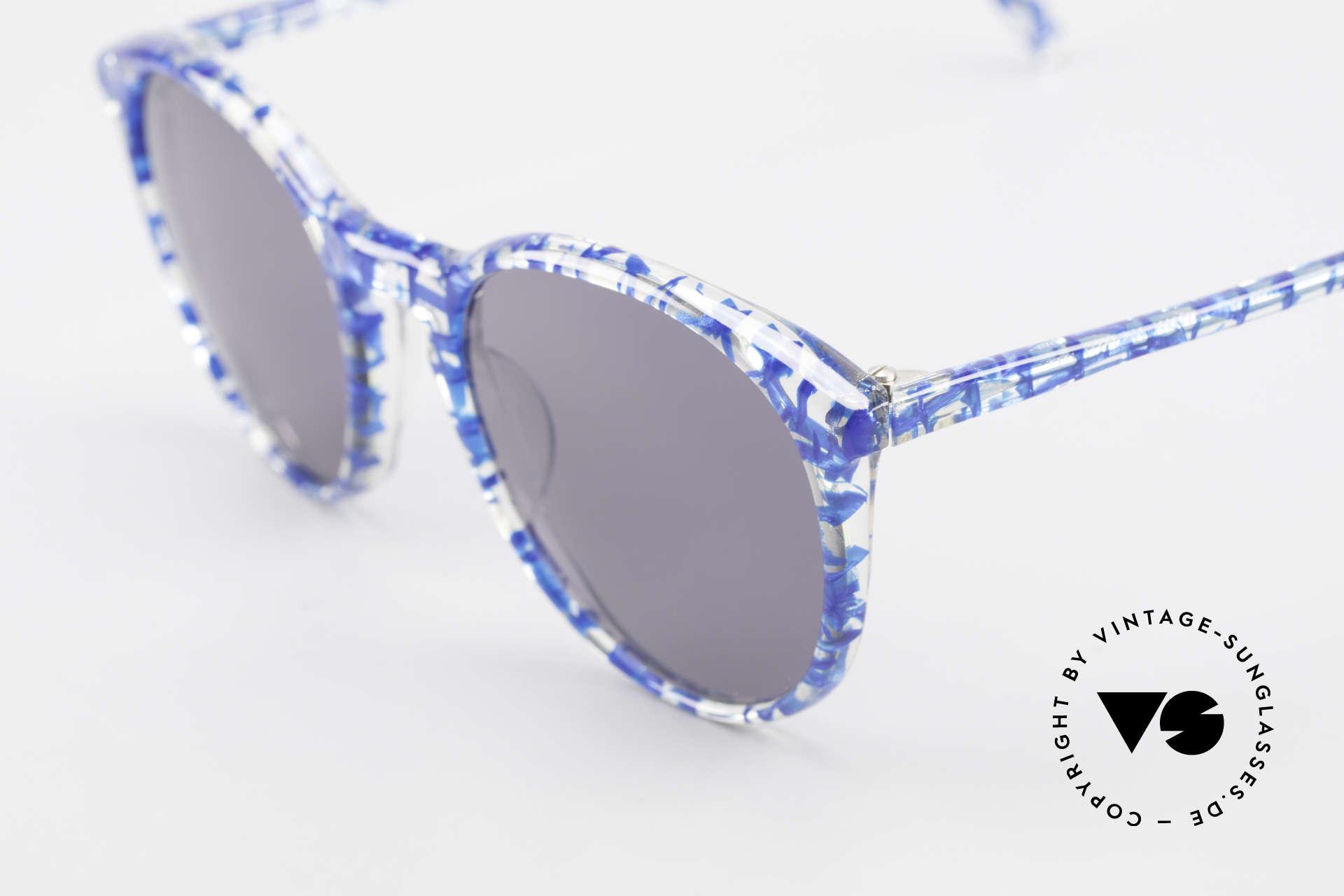 Alain Mikli 901 / 323 80er Panto Brille Kristall Blau, hellgraue Gläser (100% UV); SMALL Größe (123mm), Passend für Herren und Damen
