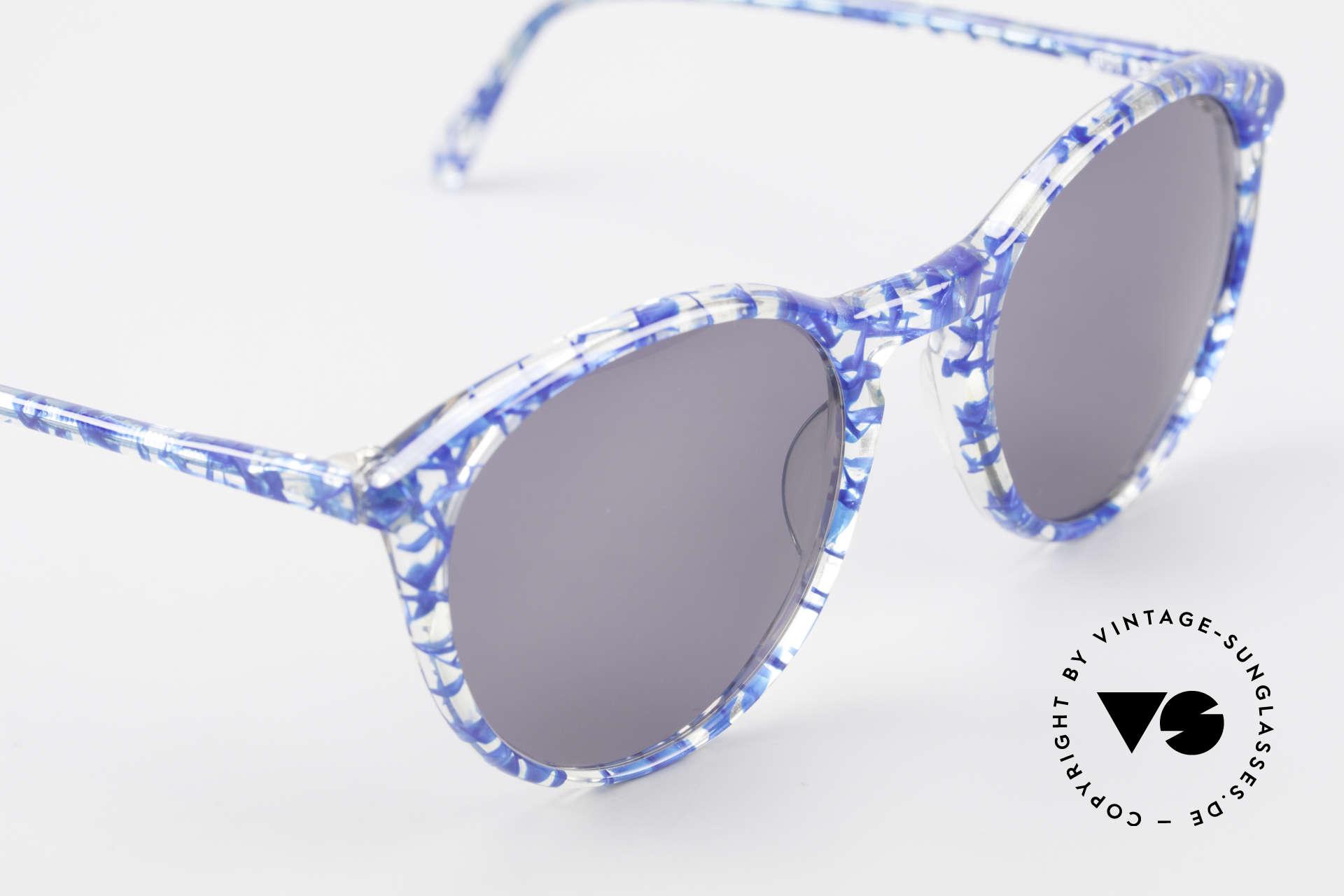 Alain Mikli 901 / 323 80er Panto Brille Kristall Blau, ungetragen (wie alle unsere 1980er vintage Brillen), Passend für Herren und Damen