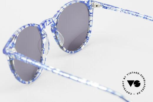 Alain Mikli 901 / 323 80er Panto Brille Kristall Blau, KEINE Retromode, sondern ein altes Mikli-Original, Passend für Herren und Damen