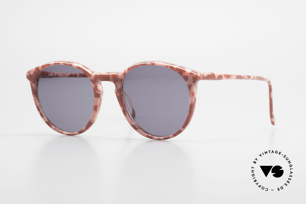 Alain Mikli 901 / 172 Sonnenbrille Rot Pink Marmor, elegante ALAIN MIKLI Paris Designer-Sonnenbrille, Passend für Damen