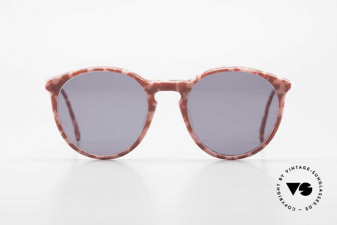 Alain Mikli 901 / 172 Sonnenbrille Rot Pink Marmor, mehr 'klassisch' geht nicht (bekannte Panto-Form), Passend für Damen