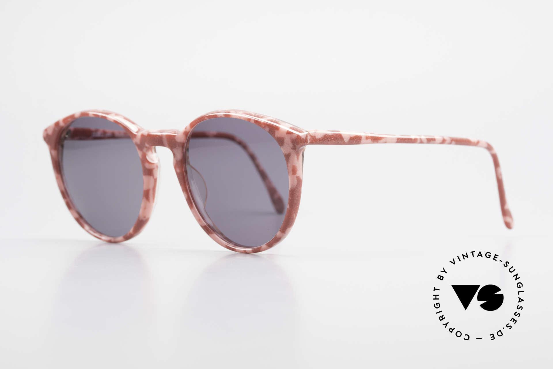 Alain Mikli 901 / 172 Sonnenbrille Rot Pink Marmor, grandioses Rahmenmuster: weinrot/pink marmoriert, Passend für Damen