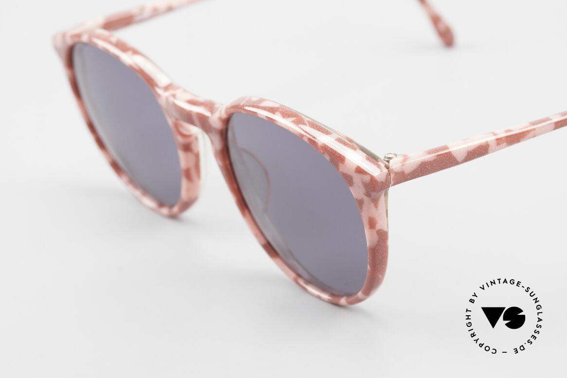 Alain Mikli 901 / 172 Sonnenbrille Rot Pink Marmor, graue Gläser (100% UV) und in S - M Größe (125mm), Passend für Damen