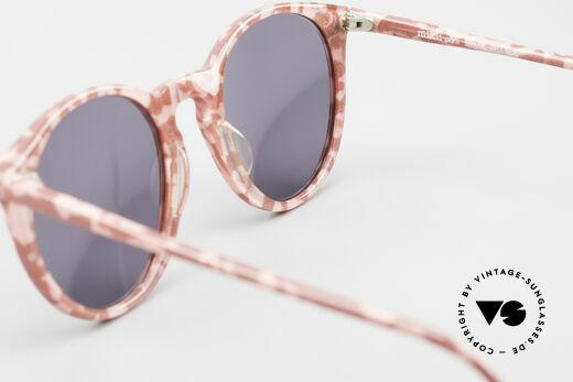 Alain Mikli 901 / 172 Sonnenbrille Rot Pink Marmor, KEINE Retromode, sondern ein altes Mikli-Original, Passend für Damen