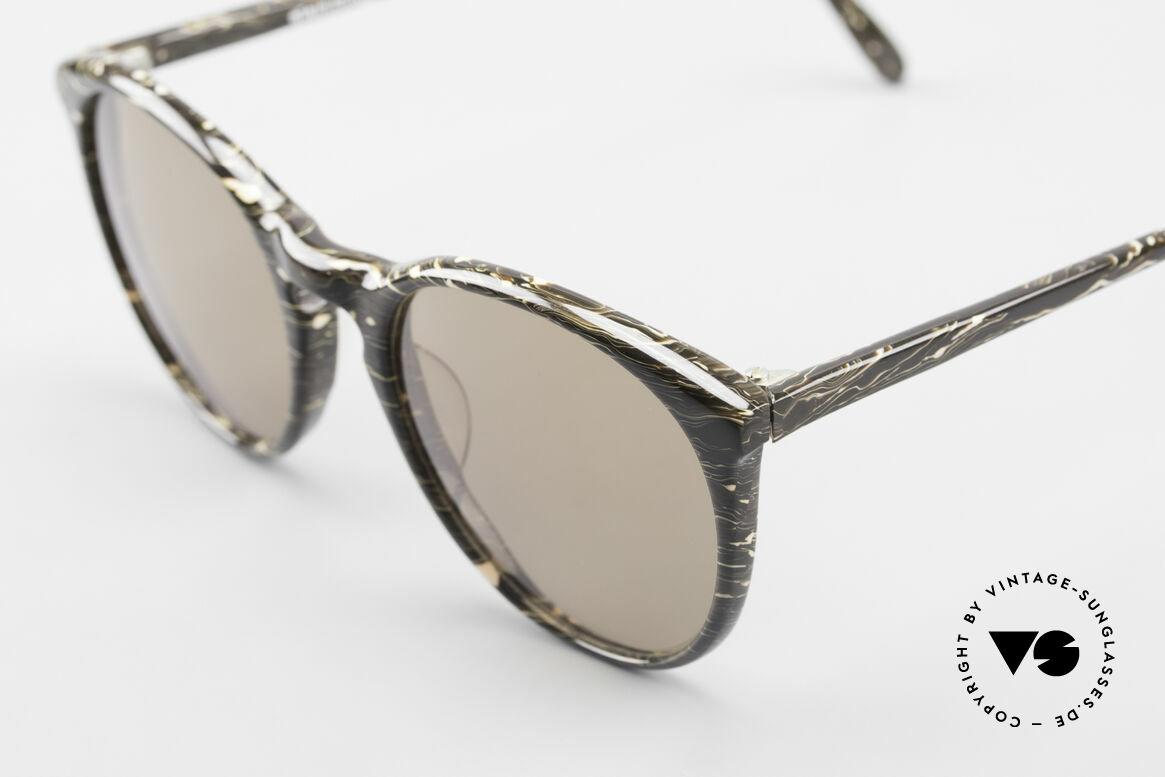 Alain Mikli 901 / 429 80er Brille Braun Marmoriert, braune Gläser (100% UV); in SMALL Größe (121mm), Passend für Herren und Damen