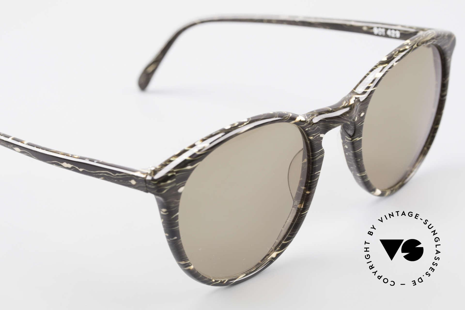 Alain Mikli 901 / 429 80er Brille Braun Marmoriert, ungetragen (wie alle unsere 1980er vintage Brillen), Passend für Herren und Damen