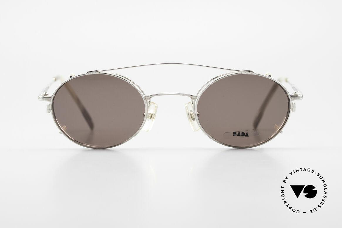 Bada BL1581 90er Brille Mit Sonnen Clip, in Los Angeles designed & in Sabae (Japan) produziert, Passend für Herren und Damen