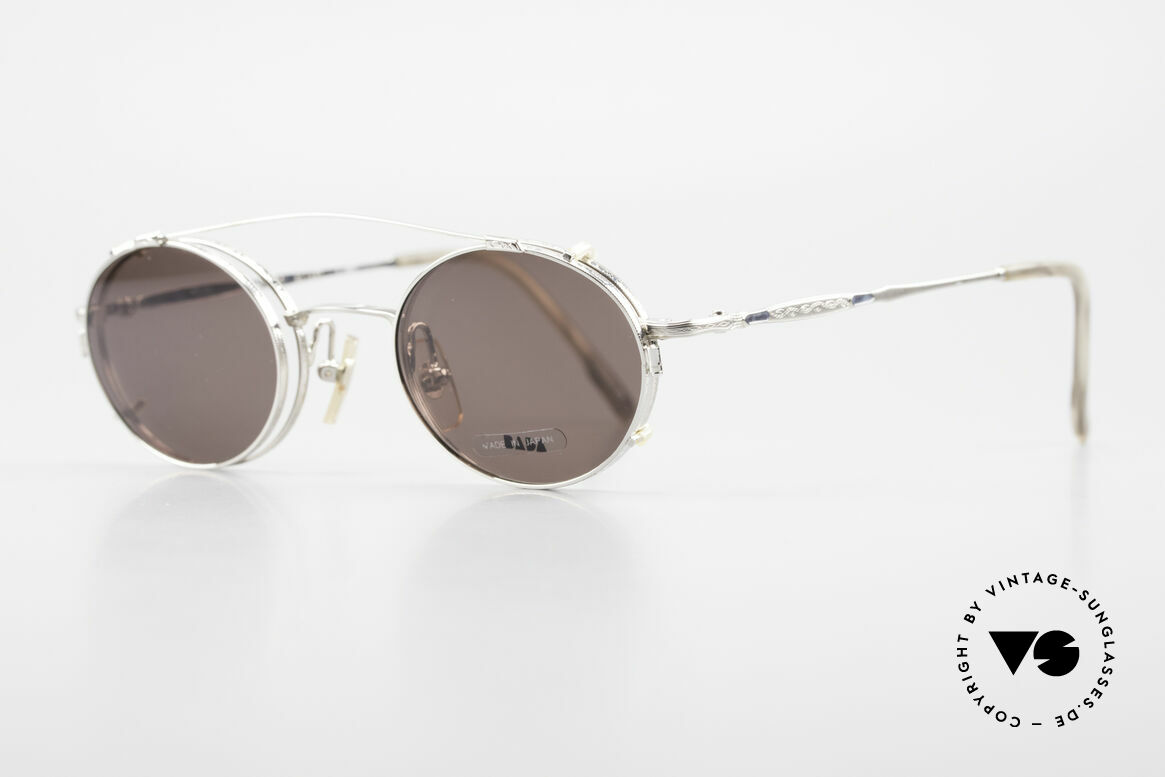 Bada BL1581 90er Brille Mit Sonnen Clip, aus dem gleichen Werk wie Oliver Peoples und Eyevan, Passend für Herren und Damen