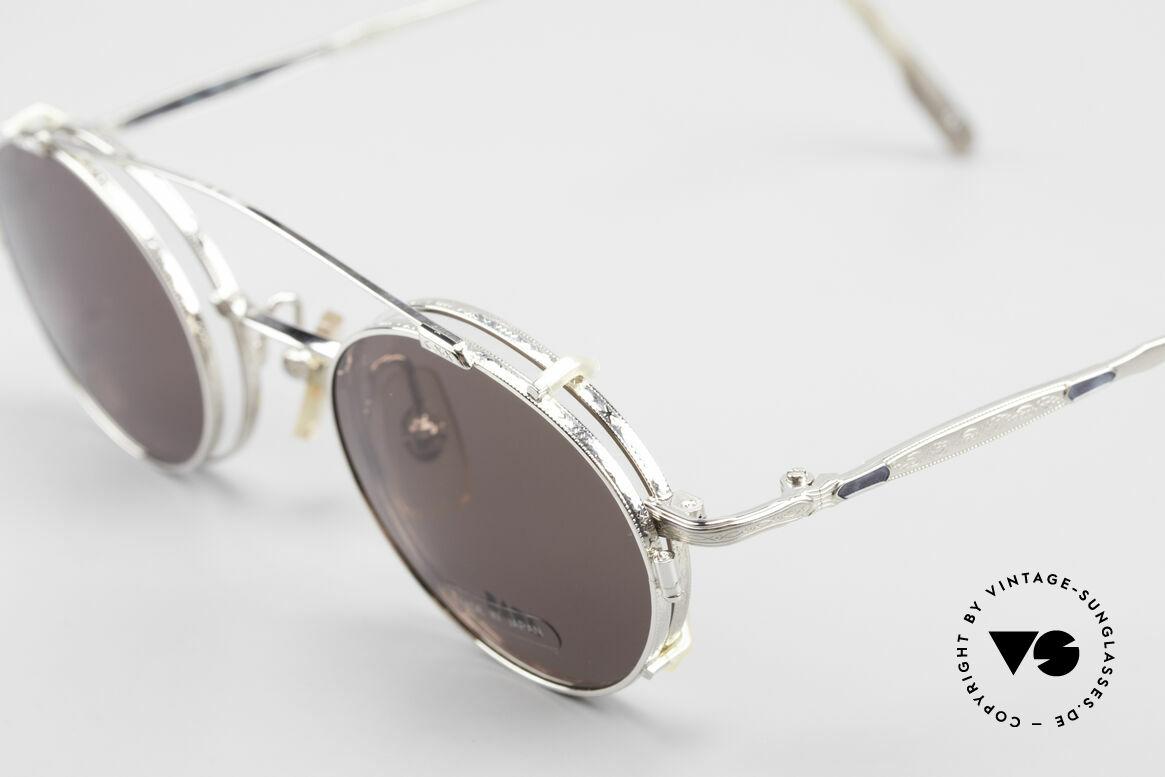 Bada BL1581 90er Brille Mit Sonnen Clip, entsprechend sind Qualität & Anmutung identisch top, Passend für Herren und Damen