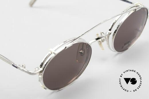 Bada BL1581 90er Brille Mit Sonnen Clip, KEINE RETRObrille, sondern ein einzigartiges Original, Passend für Herren und Damen