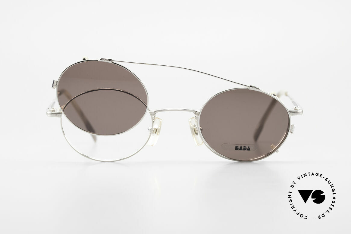 Bada BL1581 90er Brille Mit Sonnen Clip, Größe: small, Passend für Herren und Damen