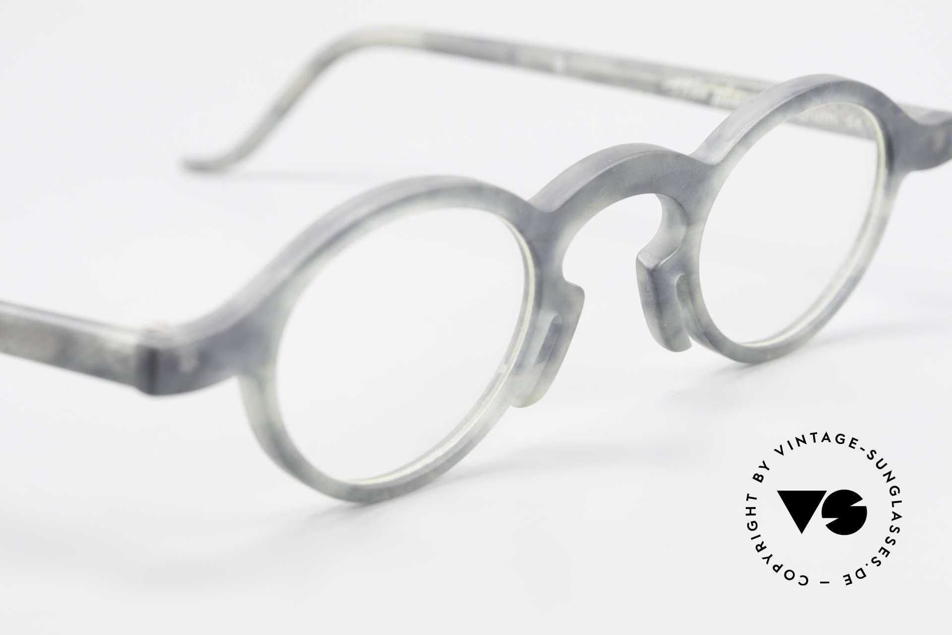 Theo Belgium Phone Interessantes Brillenmuster, ungetragenes Theo-Exemplar für die, die sich trauen, Passend für Herren und Damen