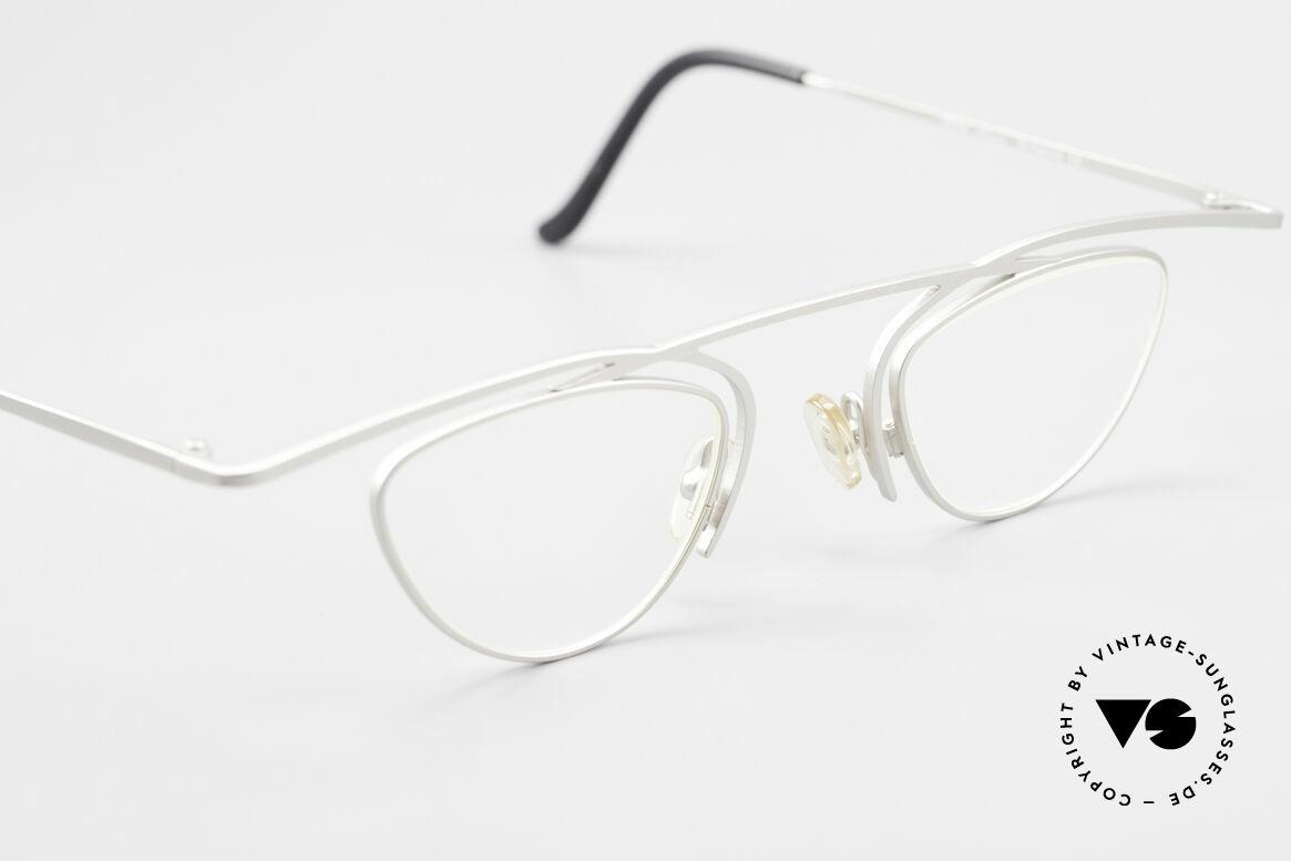 Theo Belgium Rhum Trendsetter Damenbrille XL, ungetragenes Theo-Exemplar für die, die sich trauen, Passend für Damen