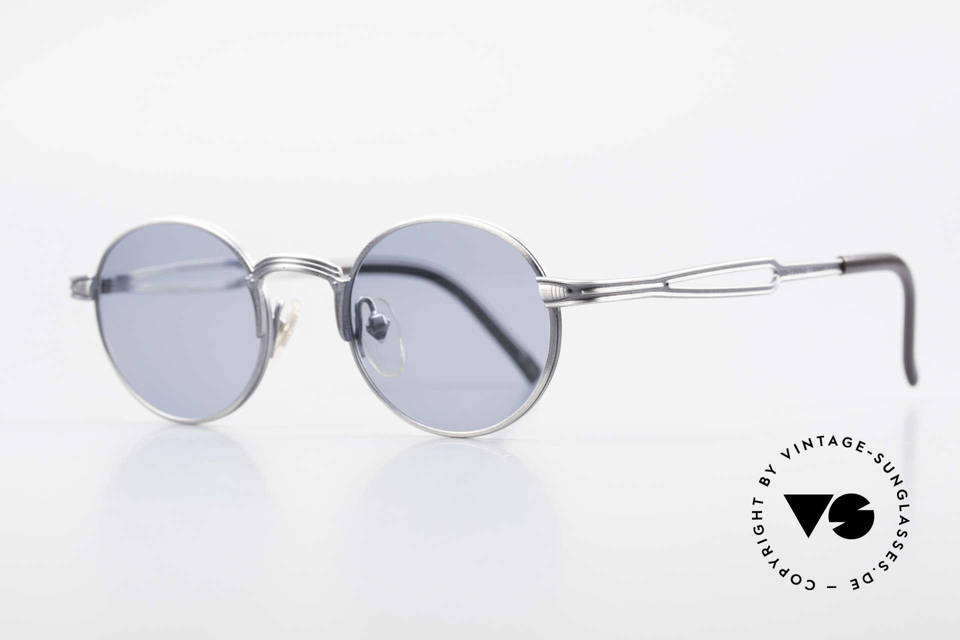 """Jean Paul Gaultier 55-7107 Kleine Runde Vintage Brille, Sonnengläser in """"Heidelbeer-Blau"""" (100% UV Schutz), Passend für Herren und Damen"""