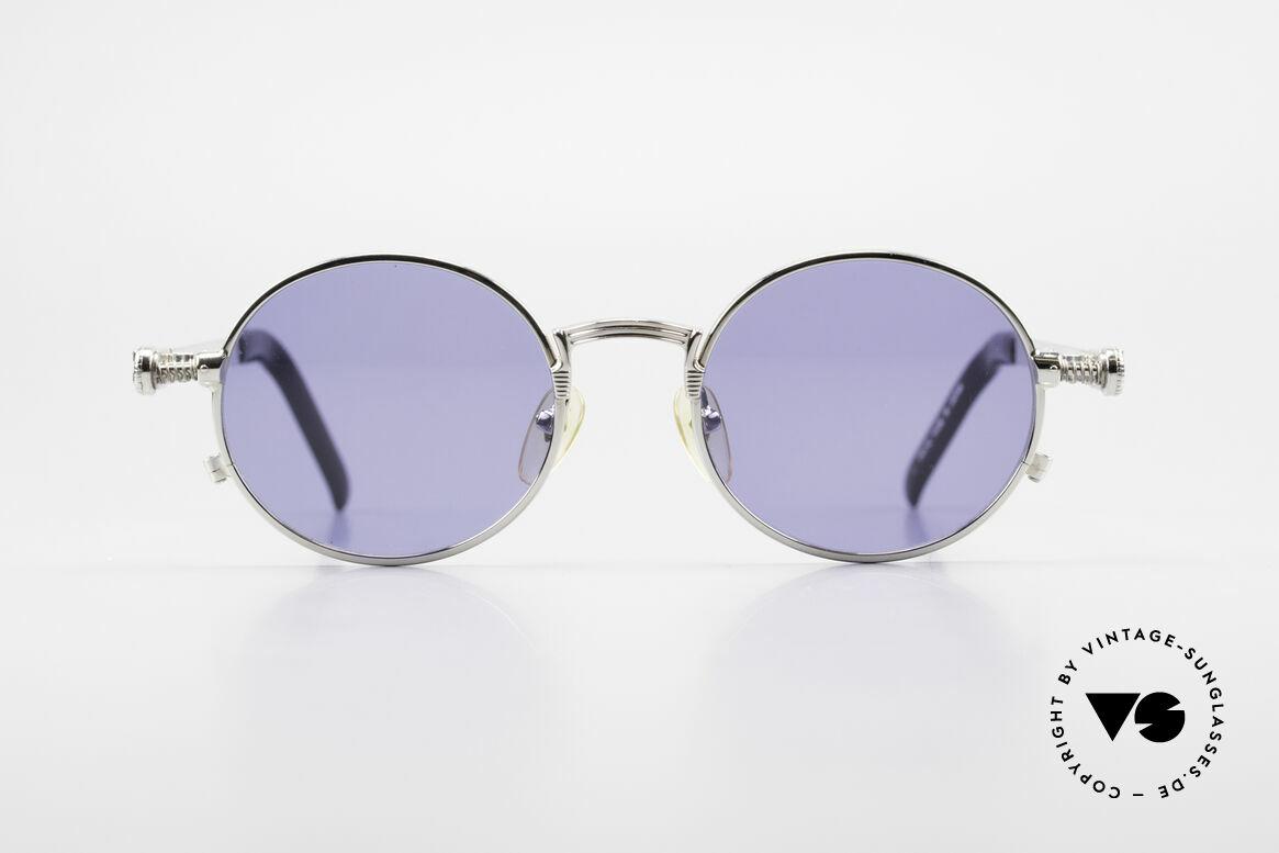 Jean Paul Gaultier 56-4178 Runde Industrial Vintage Brille, runde Jean Paul Gaultier Designer-Luxusbrille von 1996, Passend für Herren